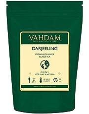VAHDAM® Darjeeling Loose Leaf (Lose Blätter) Tee (120+ Tassen), Ergiebig & Vollmundig, Schwarzer Second Flush Tee, 100% Zertifiziert, Rein & Unverschnitten. Direkt aus Indien, 255g