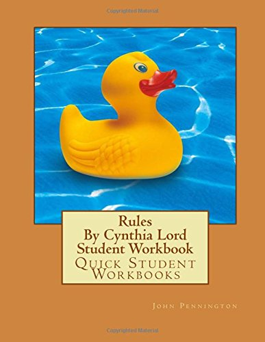 Rules By Cynthia Lord Student Workbook: Quick Student Workbooks