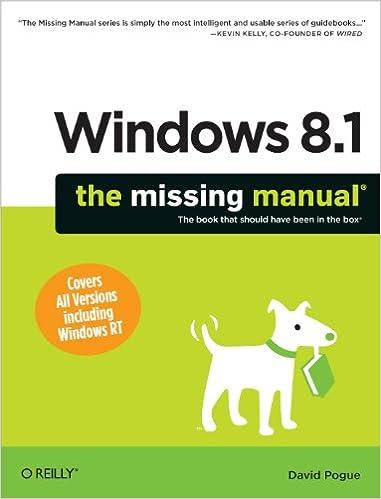 Windows 8.1: The Missing Manual Books Pdf File