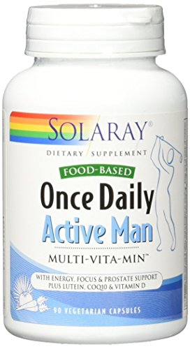 Solaray Once Daily Active Man VCapsules, 90 (Active Mens Multivitamin)