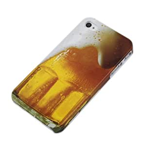 BestDealUSA Gold Mug Alcohol Beverage Beer Cold Drink Cup Hard Cover Case for iPhone 4 4S 4G