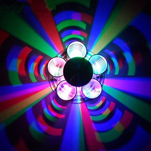 Eeayyygch LED Aluminium Doppelkopf Schmetterling Wandlampe Schlafzimmer TV Sofa Gegenlicht Treppe gepunktet Nachtlicht Bunte dekorative Lichter Bühnenbeleuchtung, 3 Farbe (RGB) (Farbe   -, Größe   -)