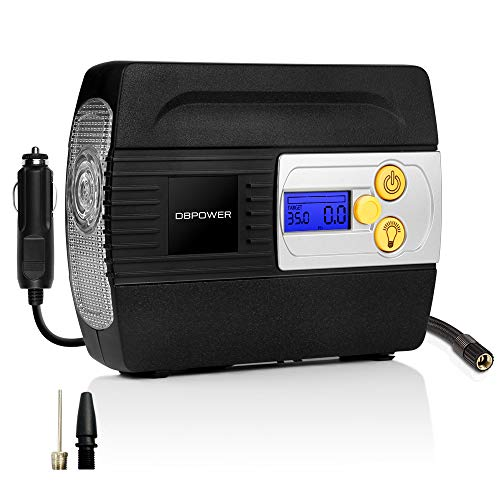 DBPOWER 12V DC Tire Inflator with Digital LCD Display and LED Lights