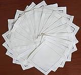"50 White linen hemstitched cocktail napkins 6""x6""- ladder hemstitch 100% linen coasters"