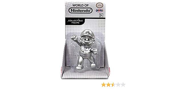 "Super Mario METAL MARIO Exclusive 2.5/"" Figure MINT CARD SEALED NEW Jakks Pacific"