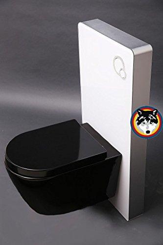 Vorbau Wc wand wc vorwandelement wc aluminium glas farbe weiss wand wc