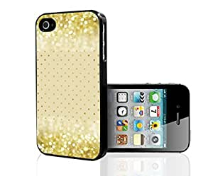 Gold Glitter and Polka Dots on Cream Background Hard Snap on Phone Case (iPhone 4/4s)