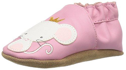 Robeez Girls' Princess Slip-On, Pink, 0-6 Months M US Infant