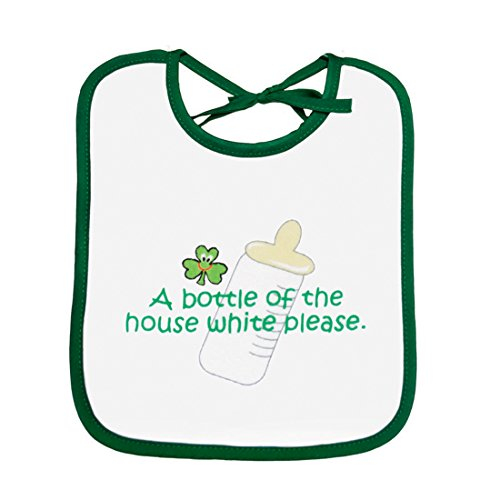 (Baby Bib 'a Bottle Of The House White Please' Print)