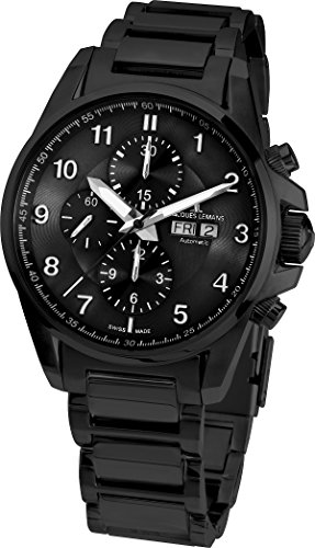 Jacques-Lemans-Mens-1-1750G-Liverpool-Automatic-Analog-Display-Swiss-Automatic-Black-Watch