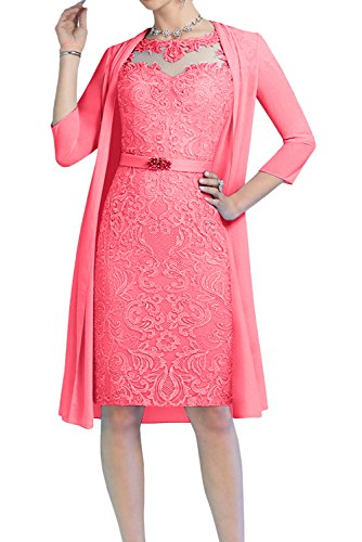 A Topkleider Wassermelone Corte Mujer Vestido para en Trapecio 34 o w66qXFg1U