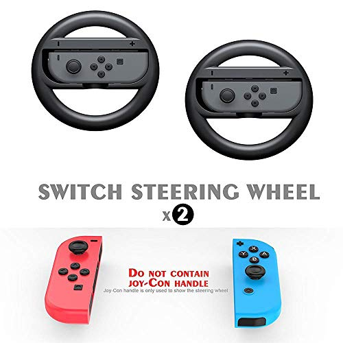 Price comparison product image PSFS Grips for Nintendo Switch Joy-Con, 2 Pack Switch Steering Wheel Switch Racing Wheel (A)