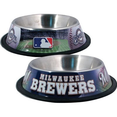 (DoggieNation MLB Dog Bowl MLB Team: Milwaukee Brewers)