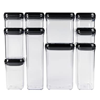 Oxo Good Grips 10-piece Pop Container Set, Black Lids