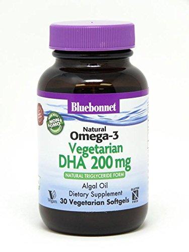 30 Softgels Vegetarian (BlueBonnet Natural Omega-3 Vegetarian DHA Vegetarian Softgels, 200 mg, 30 Count)