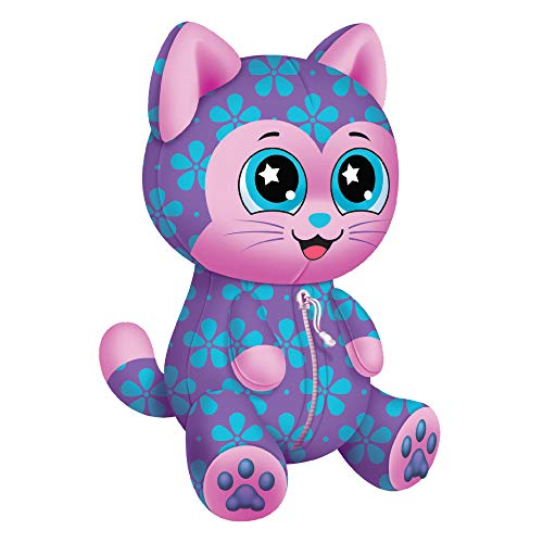 - Novelty, Inc. Animal Travel Palz Reversible Stuffed Animal Neck Pillow - Flower Power Cat