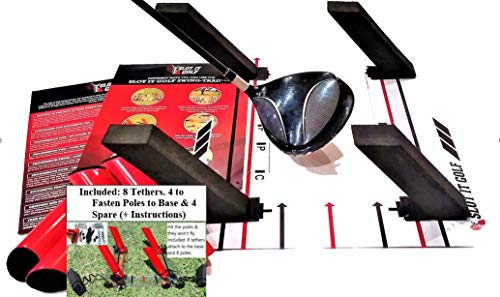 Slot It Swing Trainer for Driver, Woods & Irons (Patent Pending). Groove a Better Swing Path. Use Black Poles for Woods & Red Poles for Irons. Slot It Golf Swing Training Aid