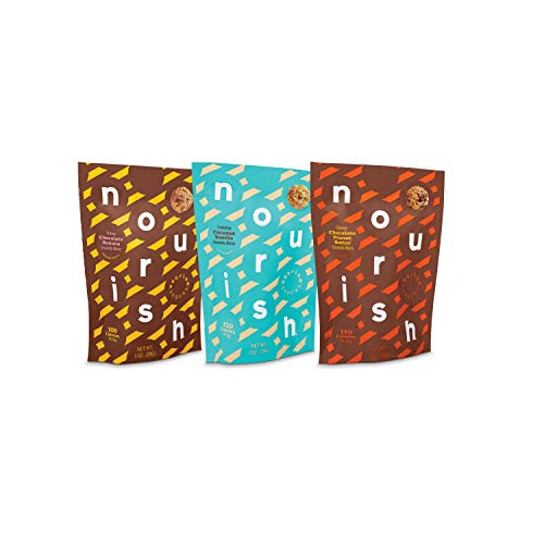 Nourish Snacks Gluten Free Granola Chia Bites, Variety Pack, 1 Ounce (12 Count), Kosher Non GMO