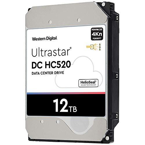 HGST WD Ultrastar DC HC520 HUH721212AL4200 12TB HDD 7200 RPM SAS 12Gb/s Interface 4Kn ISE 3.5-Inch Helium Data Center Enterprise Internal Hard Disk Drive