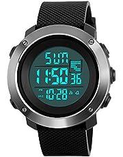 Orologio digitale da uomo countdown LED schermo grande Face orologio da polso impermeabile allarme cronometro della luce esterna casual orologio