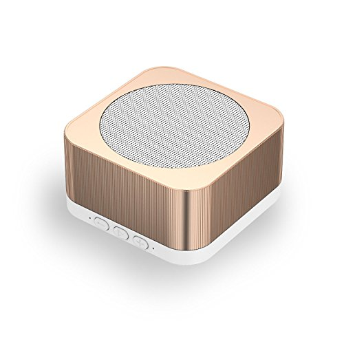 Portable Outdoor Loud Bluetooth Speaker, KBTEL Wireless Small Lightweight Speakers with 10 Hour Rechargeable Battery Life, Powerful Audio Driver, Compatible with iPhone, iPod, iPad (Gold)