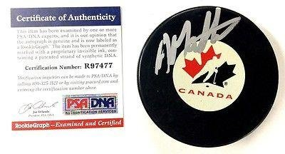 Anthony-Mantha-Signed-Canada-Puck-Psadna-Rookiegraph-R97477-Detroit-Red-Wings