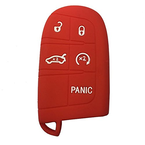 silicone-key-cover-case-for-chrysler-dodge-smart-key-card-5-button-protection-horande-keys-red