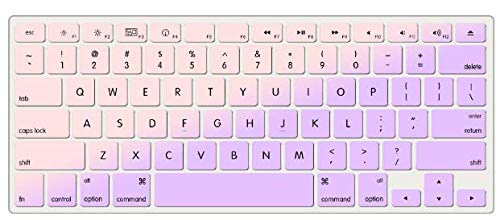 "KECC Laptop Case for MacBook Air 13"" w/Keyboard Cover Plastic Hard Shell Case A1466/A1369 2 in 1 Bundle (Pale Pink Lavender)"