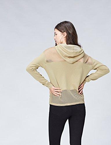 Con Mesh Inserti Cappuccio Felpa Activewear khaki E Verde In Donna 7xPp5TqY
