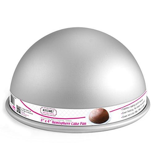 NY Cake Hemisphere Cake Pan 8 x 4 Anodized Aluminum