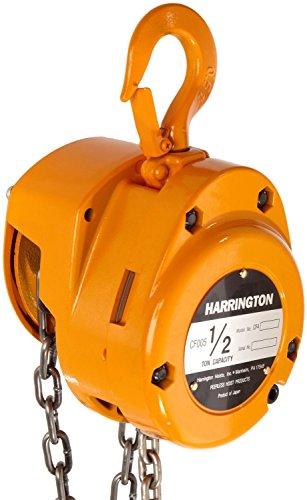 Harrington CF Hand Chain Hoist, Hook Mount, 1/2 Ton Capacity, 10' Lift, 12.8