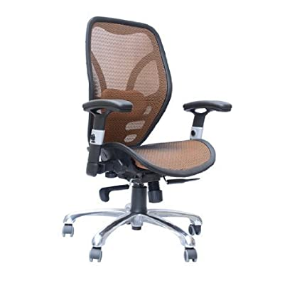 HomCom Mesh Ergonomic Home Office Desktop Computer Chair   Orange