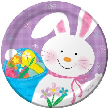- Bunny Juggle Easter Paper Plates 7-inch 8 Per Pack