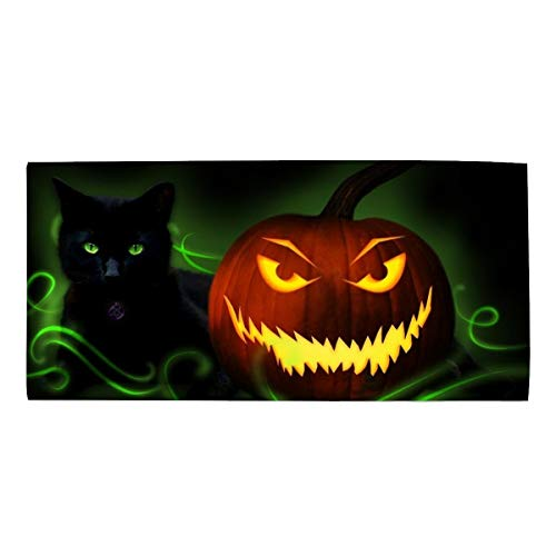 Hand Towels for Bathroom-Hotel-Spa-Kitchen Scary Halloween Pumpkin Hair Towel Highly Absorbent 11.8 X 27.5 inch ()