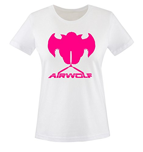 Weiss wolf Blanc Air Courtes Pink Femme shirt T Manches Hwwf0pq