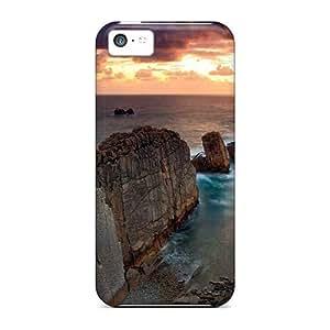 MMZ DIY PHONE CASEBwM1077srFn Stone Barrage Fashion Tpu 5c Case Cover For Iphone
