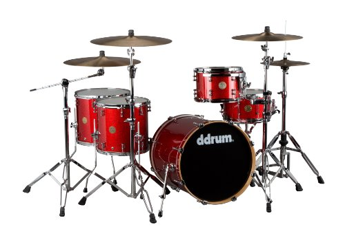 ddrum Dios M-Series DS MP 20 5-Piece Drum Kit , Red Cherry Sparkle (Cymbals Not included)