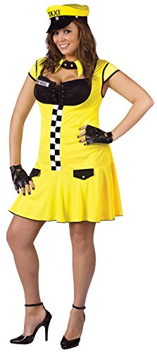 UHC Women's Sexy Cabbie Fancy Dress Funny Theme Halloween Plus Size Costume, Plus (16-20)