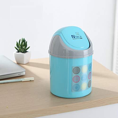 QYSZYG Bote de Basura de de de Escritorio, Mini Cesta de Papel de plástico, Caja de Almacenamiento de Basura de Lindo Oso Pardo, 4 litros Bote de Basura (Color : Azul) 932df3