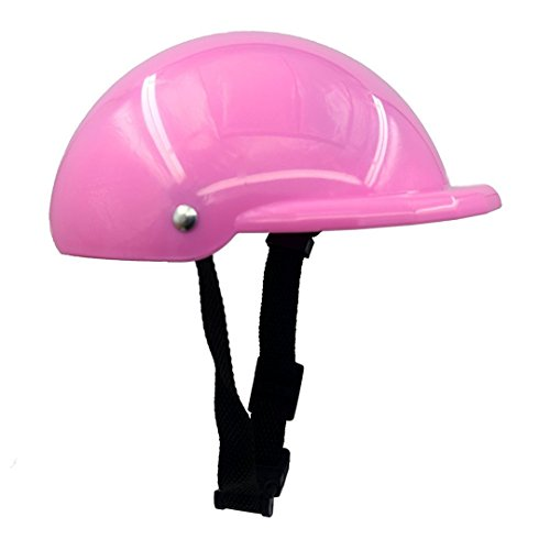 Gorgester Pet Dog Helmet Cap Hat ABS Plastic Doggie Puppy Riding Motorcycles Bike Helmet Sun Rain Protection for Small Pet (S, Pink)
