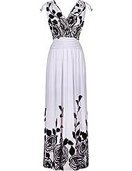 2LUV Women's Shoulder Ties Floral Summer Holiday Resort Maxi Dress