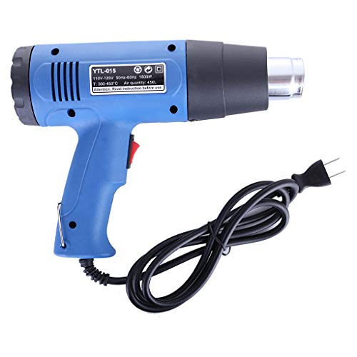 Ackful1500W Heat Gun Hot Air Wind Blower Dual Temperature + 4 Nozzles Power Heater New