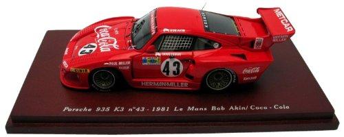 43rd Scale - Porsche 935 K3 #43 - 1981 24 Hrs Le Mans-Coca-Cola-1/43rd Scale