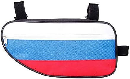 自転車フレームバッグ自転車バッグ フロントバッグ 多機能 防水 防圧 軽便 取り付け簡単 自転車バッグトップチューブトライアングルバッグスポーツストラップオンツールパック収納バッグ用ロードマウンテンサイクリング (Color : Blue white red, Size : 28*14*6.5cm)