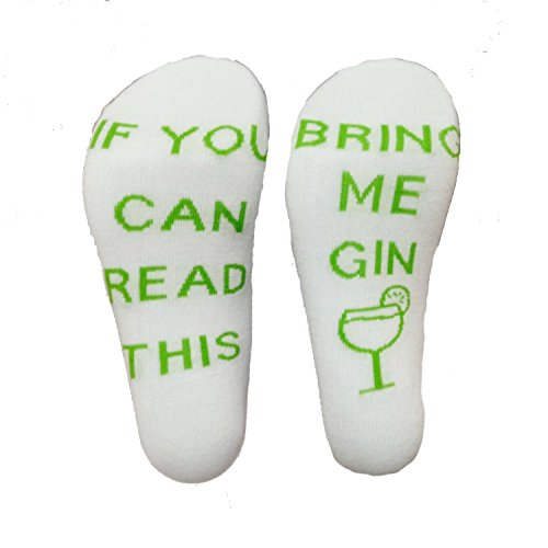 OMONSIM IF You Can Read This PLEASE Bring Me Wine Beer Novelty Funky Crew Socks Men Women Christmas Gifts Slipper Socks