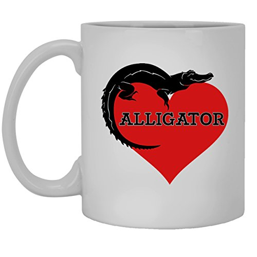 Alligator White Mugs - Alligator Lover Ceramic Coffee Mug 11oz