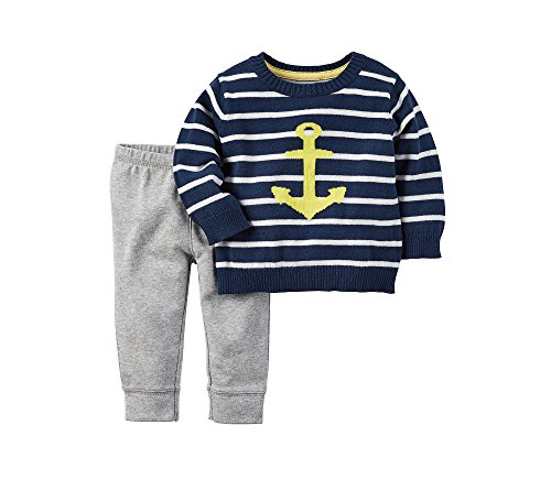 Carter's Baby Boys' 2-Piece Anchor Sweater and Pants Set 6 (2 Piece Cotton Sweater)