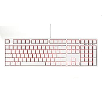 iKBC F108 RGB Double-Shot PBT Mechanical Gaming Keyboard with Cherry MX Blue Switches, White Case, Per-Key RGB Lighting, Full Size (K6D75S411007)