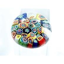 Murano Design Mouth Blown Millefiori Handmade Art Glass Paperweight M Pw-069
