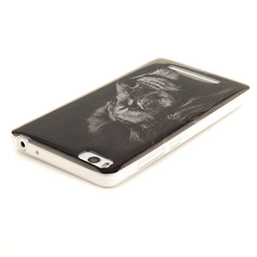 Xiaomi Antichoc Bord De Arrière Peint 4i M4i Slim Silicone TPU Souple De Transparent Motif Scratch Protection lion Fit En 4C Résistant Couverture Hozor Cas Téléphone Cas Mi dSnRaxa